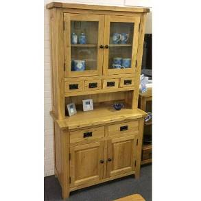 Madrid Rustic Oak Small 2 Door 2 Drawer Dresser (Clearance)