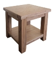 Madrid Rustic Oak Lamp Table