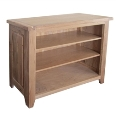 Madrid Rustic Oak Low Bookcase