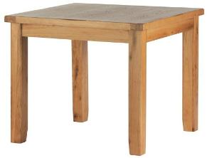 Madrid Rustic Oak Dining Table (Square)