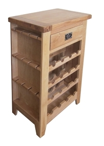 Madrid Rustic Oak Wine Cabinet