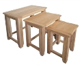 Madrid Rustic Oak Nest of Tables