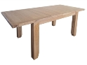 Madrid Rustic Oak Large Extending Dining Table