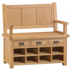 Compton Oak Monks Bench