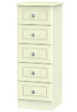 Pembroke Cream 5 Drawer Narrow Chest (Clearance)