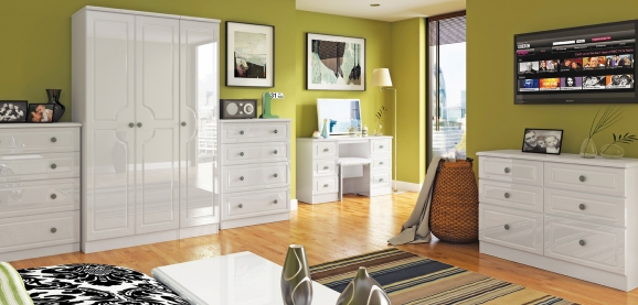 Bedroom Furniture White Gloss pembroke bedroom furniture