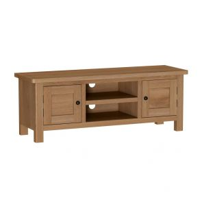 Portland Rustic Oak Large 2 Door TV Cabinet