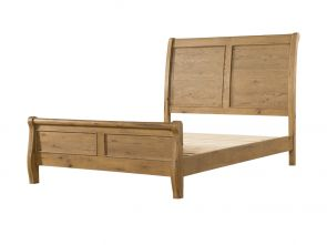 Regal Oak 4`6 Sleigh Bed