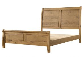 Regal Oak 5`0 Sleigh Bed