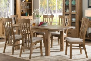 Regal Oak 140cm Extending Dining Table with 6 Chairs