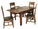 Kilkenny 4ft Butterfly Extending Dining Set with 4 Ladder Back Chairs