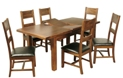 Kilkenny 5ft Butterfly Extending Dining Set with 6 Ladder Back Chairs