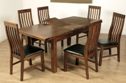 Kilkenny 5ft Butterfly Extending Dining Set with 6 Slat Chairs