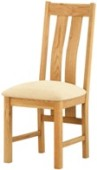 2 x Seattle Oak Dining Chairs