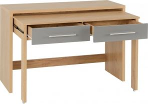 Seville High Gloss Seville Grey 2 Drawer Slider Desk
