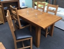 Toronto Oak Small Extending Dining Set (Clearance)