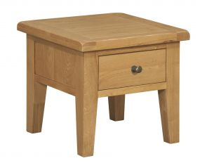 Toronto Oak Lamp Table With Drawer