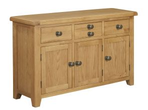 Toronto Oak 3 door 3 Drawer Large Sideboard