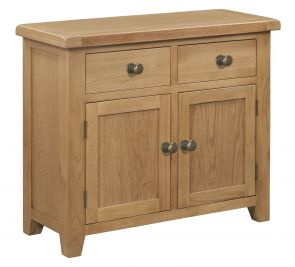 Toronto Oak 2 door 2 Drawer Small Sideboard