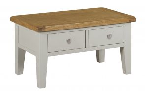 Toronto Oak and Grey Painted Coffee Table with Drawers