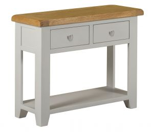 Toronto Oak and Grey Painted 2 Drawer Console Table