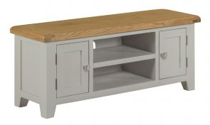 Toronto Oak and Grey Painted Large TV Unit