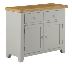 Toronto Oak and Grey Painted 2 door 2 Drawer Small Sideboard