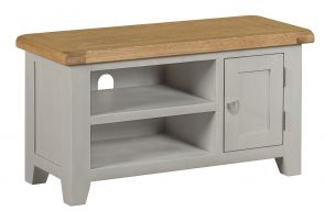 Toronto Oak and Grey Painted Small TV Unit