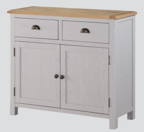 Kenmore Grey Painted Oak 2 Door Sideboard