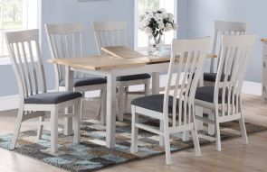 Kenmore Grey Painted Oak Extending Dining Set