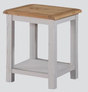 Kenmore Grey Painted Oak Lamp Table