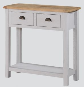 Kenmore Grey Painted Oak Large Hall Table