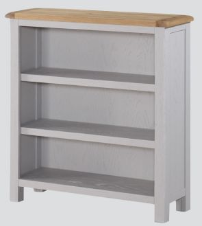 Kenmore Grey Painted Oak Low Bookcase
