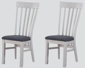 Kenmore Grey Painted Oak 2 x Dining Chairs
