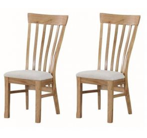 Kenmore Rustic Oak 2 x Dining Chairs