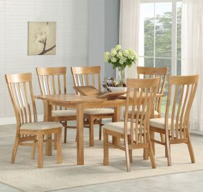 Kenmore Rustic Oak Extending Dining Set