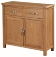 Valewood City Oak 2 Door Sideboard