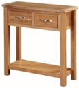 Valewood City Oak Large Hall Table