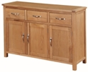 Valewood City Oak 3 Door Sideboard