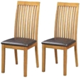 Valewood City Oak 2 x Dining Chairs