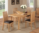 Valewood City Oak Extending Dining Set