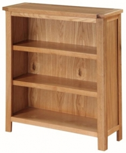 Valewood City Oak Low Bookcase