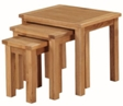 Valewood City Oak Nest Of Tables